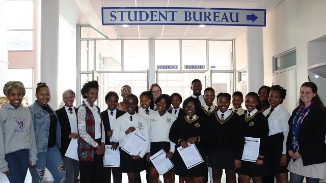 Nombulelo Secondary School and Mary Waters High School mentees.